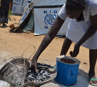 £38can provide a 'Feed a Family Kit', including a stove, charcoal and a month's supply of food.
