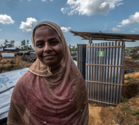 £100could provide toilets and washing facilities for up to 50 families in the first stage of emergency response.
